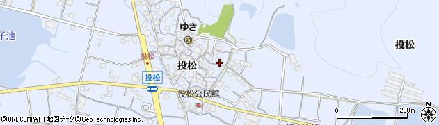 兵庫県加古川市志方町(投松)周辺の地図