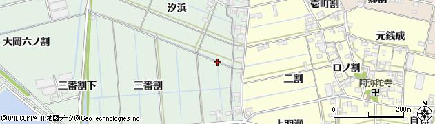 愛知県西尾市一色町細川周辺の地図