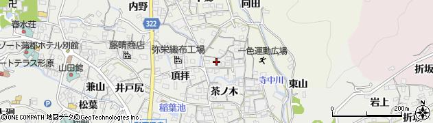 愛知県蒲郡市金平町(椿薮)周辺の地図