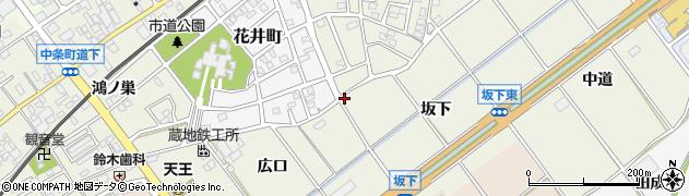 愛知県豊川市中条町(坂下)周辺の地図