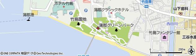 竹島八百富神社周辺の地図