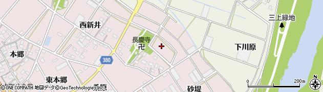 愛知県豊川市当古町(東新井)周辺の地図