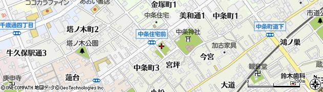 定光寺周辺の地図