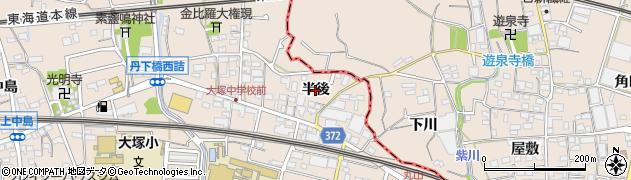 愛知県蒲郡市大塚町(半後)周辺の地図