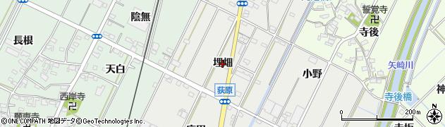 愛知県西尾市吉良町荻原(埋畑)周辺の地図