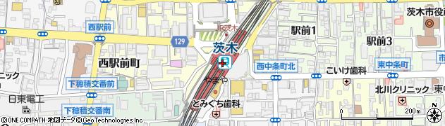 大阪府茨木市周辺の地図