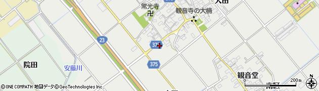 愛知県豊川市御津町上佐脇(雨田)周辺の地図