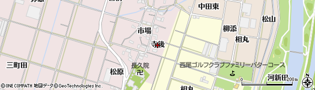 愛知県西尾市一色町池田(寺後)周辺の地図