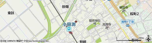 愛知県豊川市小田渕町(卯足)周辺の地図