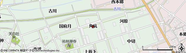愛知県豊川市土筒町(角杭)周辺の地図