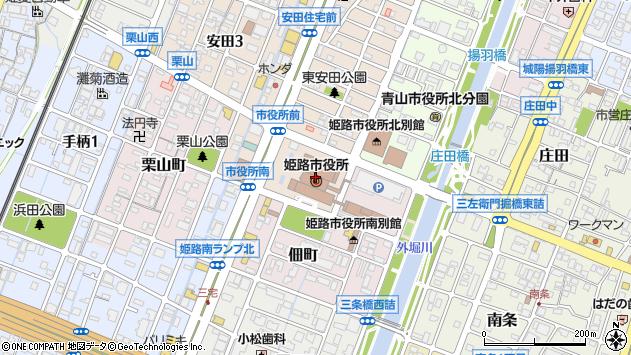 〒670-0000 兵庫県姫路市(以下に掲載がない場合)の地図