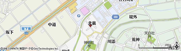 愛知県豊川市瀬木町(北裏)周辺の地図