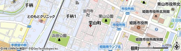 兵庫県姫路市栗山町周辺の地図