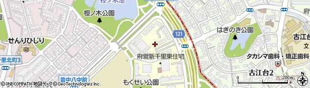 府営新千里東町住宅周辺の地図