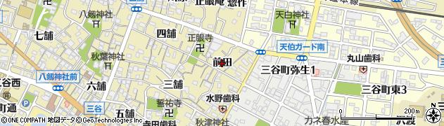 愛知県蒲郡市三谷町(前田)周辺の地図