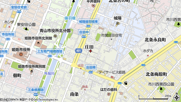 〒670-0951 兵庫県姫路市庄田の地図