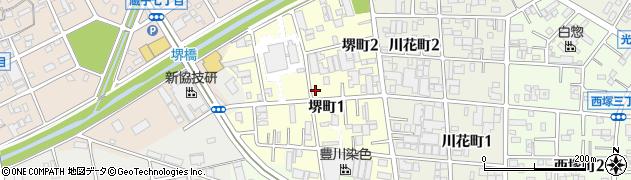 愛知県豊川市堺町周辺の地図