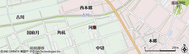 愛知県豊川市土筒町(河原)周辺の地図