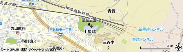 愛知県蒲郡市三谷町(上星越)周辺の地図