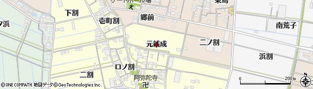 愛知県西尾市一色町中外沢(元銭成)周辺の地図