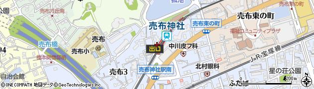 兵庫県宝塚市周辺の地図