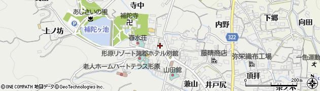 愛知県蒲郡市金平町(植地)周辺の地図