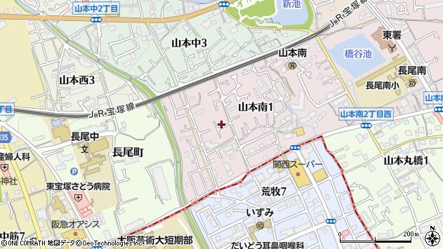 〒665-0882 兵庫県宝塚市山本南の地図