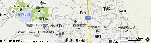 愛知県蒲郡市金平町(東橋)周辺の地図