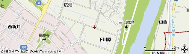 愛知県豊川市三上町(内袋)周辺の地図