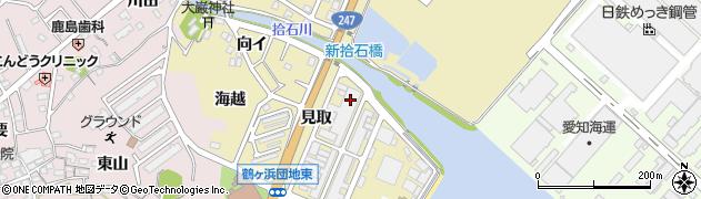 愛知県蒲郡市拾石町(見取)周辺の地図