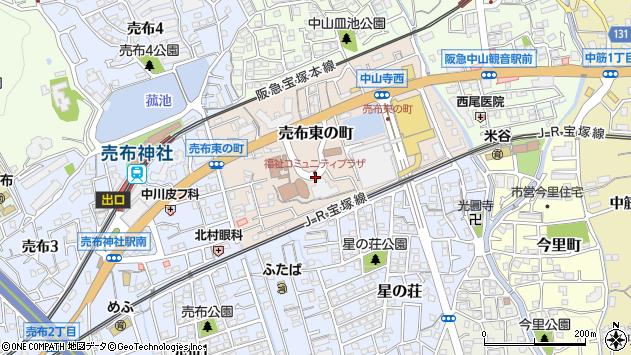 〒665-0867 兵庫県宝塚市売布東の町の地図