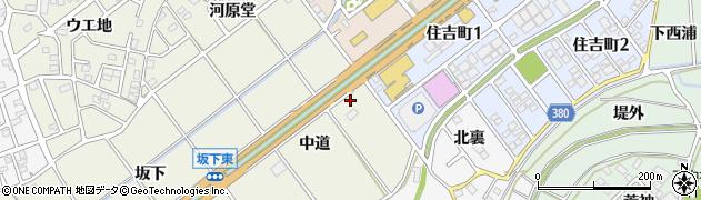 愛知県豊川市中条町(中道)周辺の地図