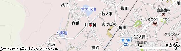 愛知県蒲郡市鹿島町(井戸神)周辺の地図