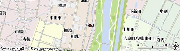 愛知県西尾市笹曽根町(松山)周辺の地図