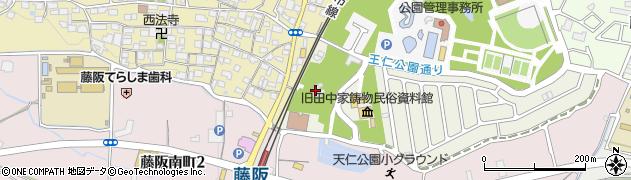 藤阪菅原神社周辺の地図