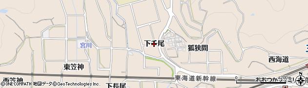 愛知県蒲郡市大塚町(下千尾)周辺の地図