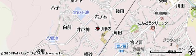 愛知県蒲郡市鹿島町(エボシ形)周辺の地図