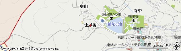 愛知県蒲郡市金平町(上ノ坊)周辺の地図