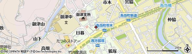 愛知県豊川市御津町西方(樋田)周辺の地図