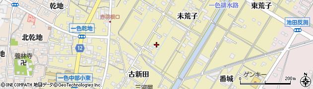 愛知県西尾市一色町一色周辺の地図