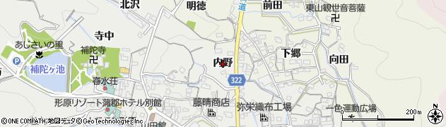 愛知県蒲郡市金平町(内野)周辺の地図