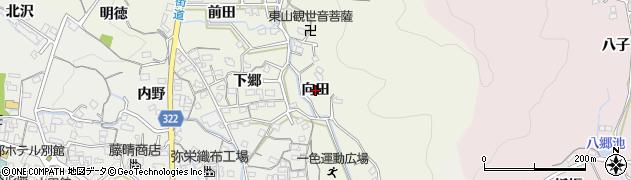 愛知県蒲郡市一色町(向田)周辺の地図
