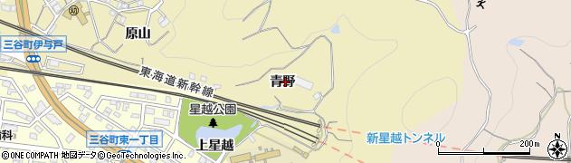 愛知県蒲郡市三谷町(青野)周辺の地図