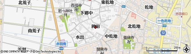 愛知県西尾市一色町赤羽(稗田)周辺の地図