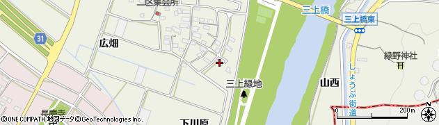 愛知県豊川市三上町(下川原)周辺の地図