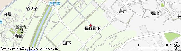 愛知県西尾市吉良町酒井(長兵衛下)周辺の地図