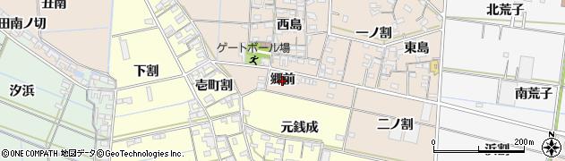 愛知県西尾市一色町養ケ島(郷前)周辺の地図