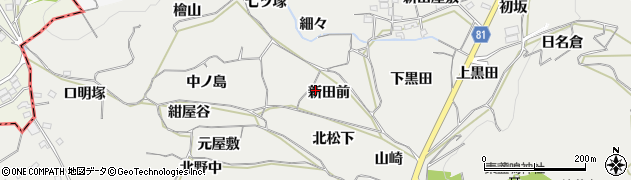 愛知県豊橋市石巻本町(新田前)周辺の地図