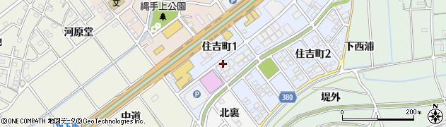 愛知県豊川市住吉町1丁目周辺の地図