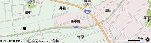 愛知県豊川市当古町(西本郷)周辺の地図